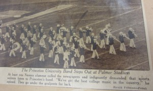 The Princeton University Band Steps Out at Palmer Stadium