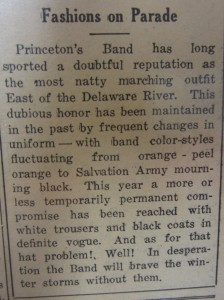 Article entitled Fashions on Parade from The Daily Princetonian