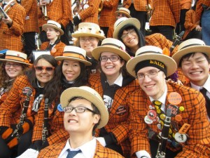 The Band at Hahvard, wearing our ever-popular, ever-seasonal orange and black attire