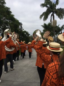 Marching around USD (Look, palm trees!)