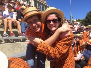Joseph McMahan '13 and Angeline Jacques '16 reminisce about Joseph's days as drum major.