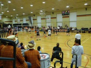 The band cheers on our Men's Volleyball team as the face Penn State